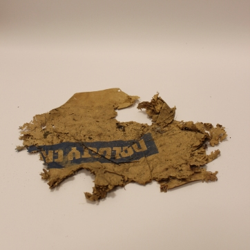 Found object: fragment of paper packaging