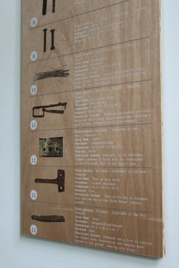Plywood Sign, artwork directly printed, 100cm x 30cm.