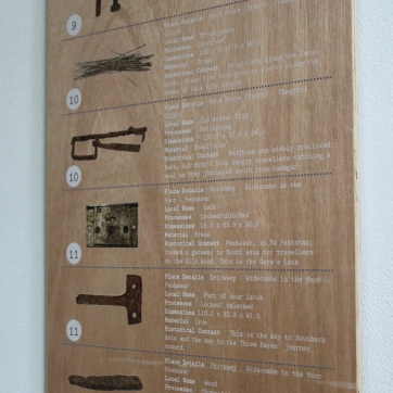 Plywood Sign, artwork directly printed, 100cm x 30cm.