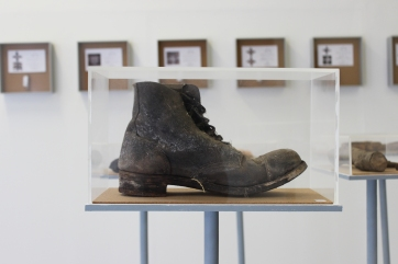 Found object: steel cap boot.
