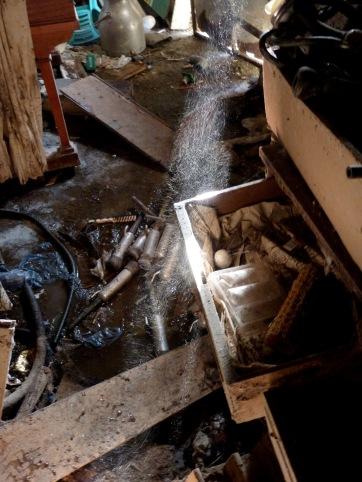 On-site documentation, photograph of a barn floor